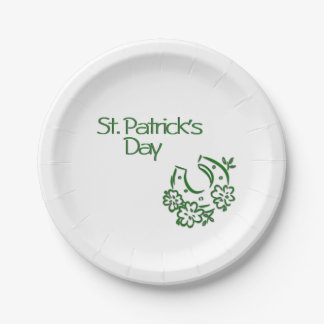 Irish Horseshoe Paper Plate