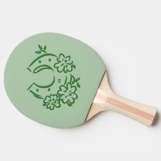 Irish Horseshoe Ping Pong Paddle