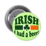IRISH I HAD A BEER BADGES