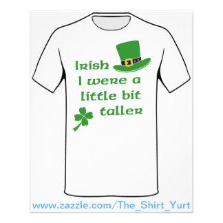 Irish I Were A Little Bit Taller St Patrick's Day 11.5 Cm X 14 Cm Flyer