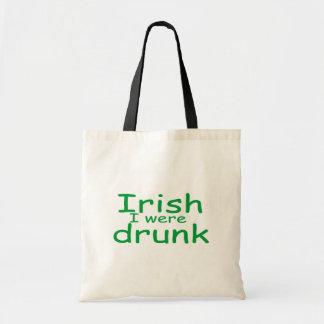 Irish I Were Drunk Canvas Bag