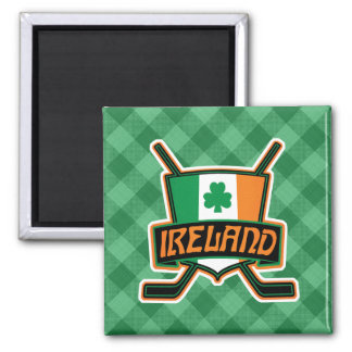 Irish Ice Hockey Flag Logo Magnet