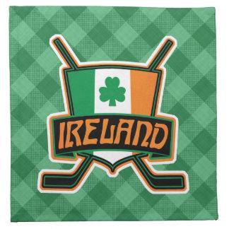 Irish Ice Hockey Flag Logo Napkins