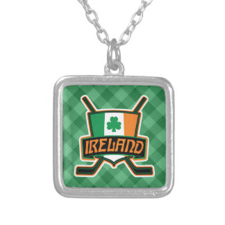 Irish Ice Hockey Flag Logo Pendant