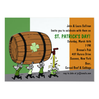 Irish Keg Party Invitation