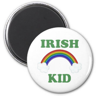 Irish Kid Rainbow 6 Cm Round Magnet