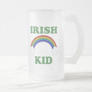 Irish Kid Rainbow Frosted Glass Mug