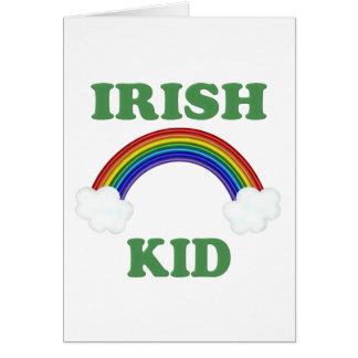 Irish Kid Rainbow Greeting Card