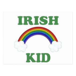 Irish Kid Rainbow Postcard