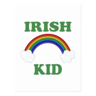 Irish Kid Rainbow Postcard