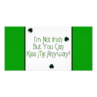 Irish kiss photo greeting card