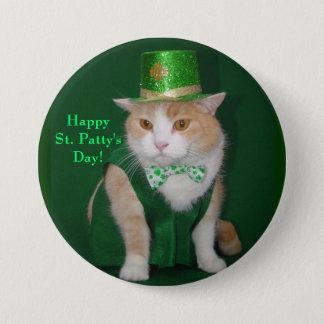 Irish Kitty Button