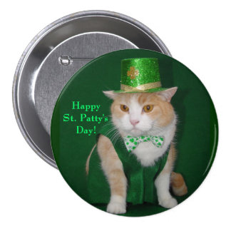 Irish Kitty Button