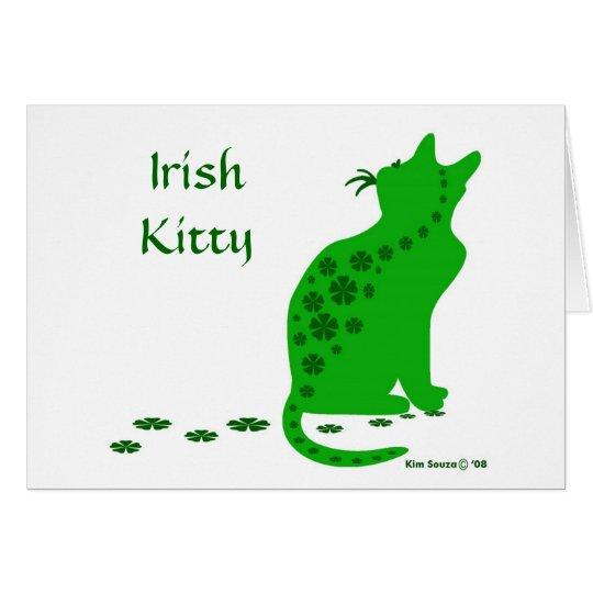 Irish Kitty-Card Card