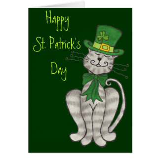 Irish Kitty - Happy St. Patrick's Day Card