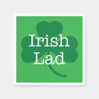 Irish Lad, Shamrock St. Patrick's Day Party Paper Napkin