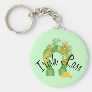 Irish Lass Lucky Horseshoe Key Ring