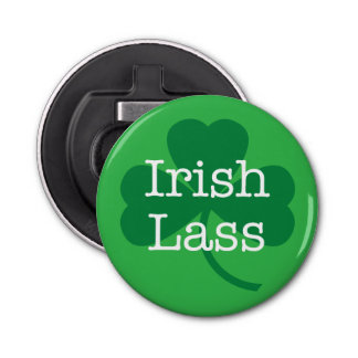 Irish Lass, Shamrock St. Paddy's Day Bottle Opener