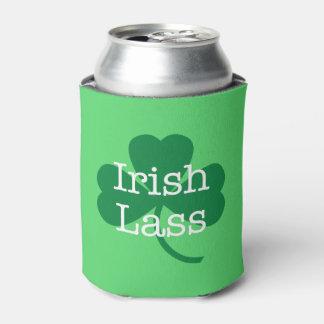 Irish Lass, St. Paddy's Day Shamrock Can Cooler