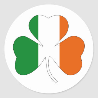 irish leaf symbol flag clover symbol ireland classic round sticker