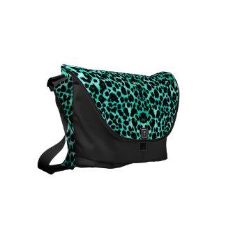 Irish Leopard Green Animal Print Messenger Bag