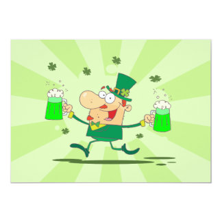 Irish Leprechaun 13 Cm X 18 Cm Invitation Card