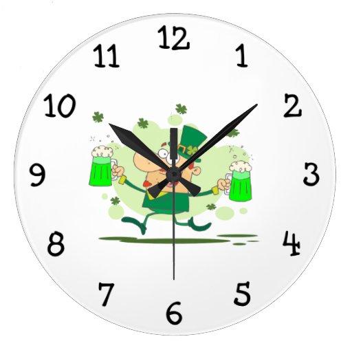 Irish Leprechaun Wall Clocks
