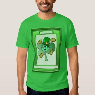 Irish leprechaun for luck tees