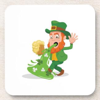 Irish Leprechaun Funny St. Patrick's Day Coaster
