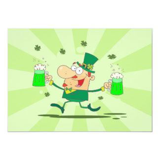 "Irish Leprechaun 5"" X 7"" Invitation Card"