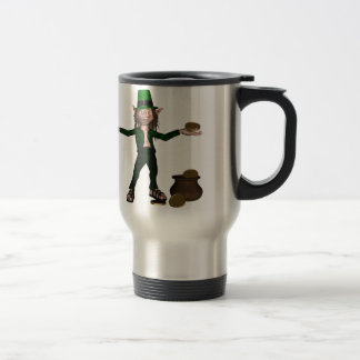 Irish Leprechaun with coins and a pot of gold Mug