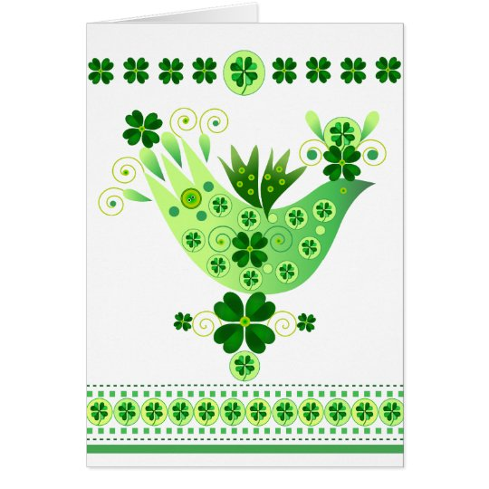 Irish Luck Bird Card