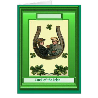 Irish Luck, Irish lovers Greeting Card