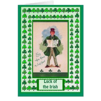 Irish Luck, Little man in green Card