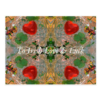 Irish Luck & Love Postcard