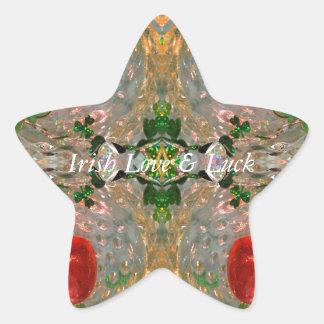 Irish Luck & Love Star Sticker