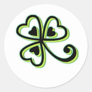 Irish Luck Round Sticker