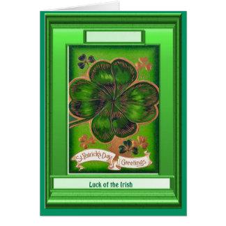Irish Luck, Shamrocks Greeting Card