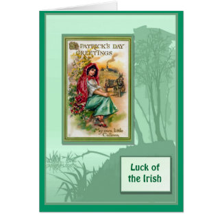 Irish Luck, St Patrick's Day Greetings Greeting Card
