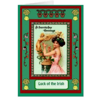 Irish Luck,St Patrick's Day Greetings Greeting Card