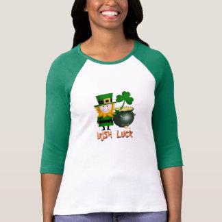 IRISH LUCK, ST PATRICKS LEPRECHAUM Long Sleeve Tsh T-Shirt