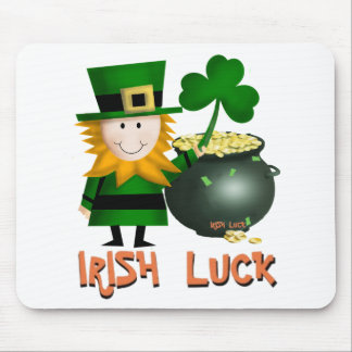 IRISH LUCK, ST PATRICKS LEPRECHAUM MOUSEPAD