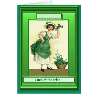 Irish Luck, TOp o' the mornin' Greeting Card
