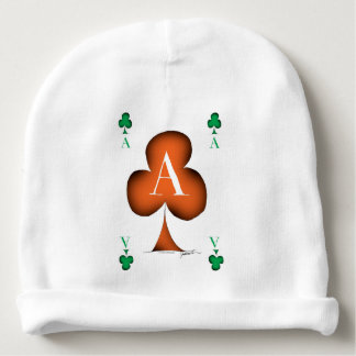 Irish 'Lucky' Ace of Clubs by Tony Fernandes Baby Beanie