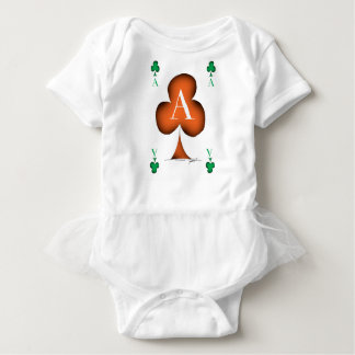 Irish 'Lucky' Ace of Clubs by Tony Fernandes Baby Bodysuit