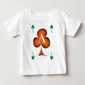 Irish 'Lucky' Ace of Clubs by Tony Fernandes Baby T-Shirt