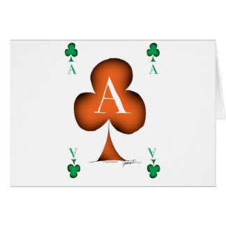 Irish 'Lucky' Ace of Clubs by Tony Fernandes Card