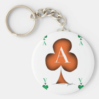 Irish 'Lucky' Ace of Clubs by Tony Fernandes Key Ring