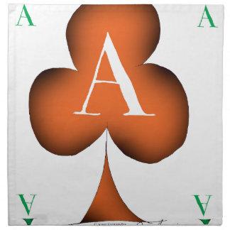 Irish 'Lucky' Ace of Clubs by Tony Fernandes Napkin