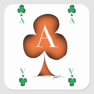 Irish 'Lucky' Ace of Clubs by Tony Fernandes Square Sticker